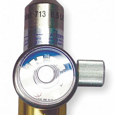 Gas Regulator with Gauge & Knob