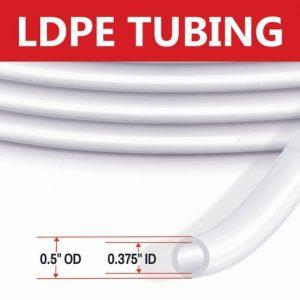 LDPE Tubing 1/2″ OD Low Flow Tubing